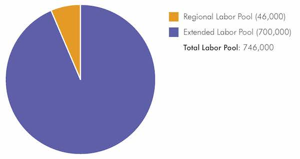 Labor Pool Pie Chart